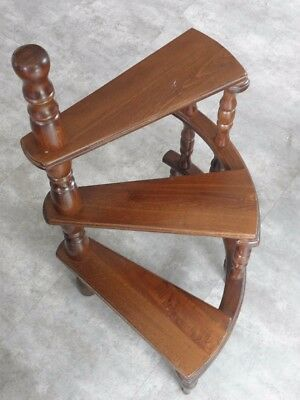 antique Display PLANT STAND Flower Rack staircase wooden walking Shelf Storage
