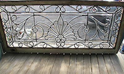 GREAT VICTORIAN ERA BEVELED GLASS WINDOW - 24 by 56
