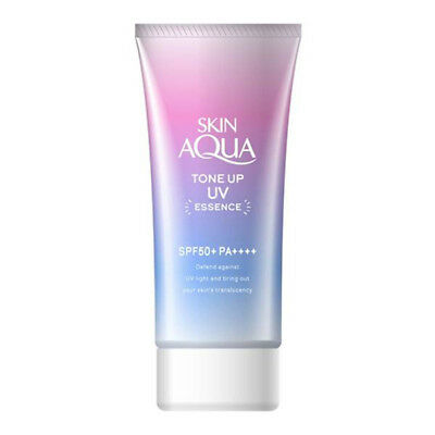 [ROHTO MENTHOLATUM] Skin Aqua Tone Up UV Essence Sunscreen SPF50+ PA++++ 80g NEW