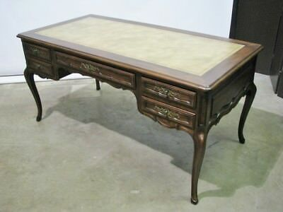 Exceptional John Widdicomb Italian Provincial Style Desk; Leather Top; Nr Mint