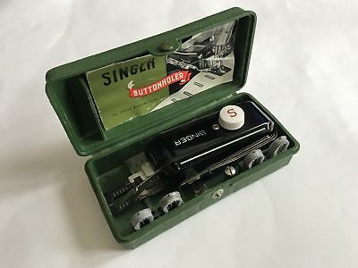 Vintage Singer Sewing Machine Buttonholer With Box