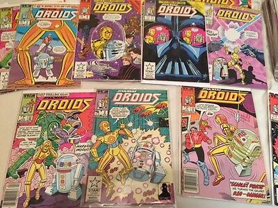 STAR WARS DROIDS Marvel Comics Complete 1 2 3 4 5 6 7 8 Lot NM-/VF+ C-3PO R2D2