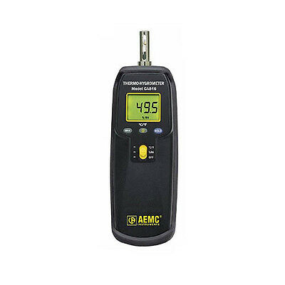 AEMC CA846 Thermo-Hygrometer Model CA846 with dirt resistant holster.