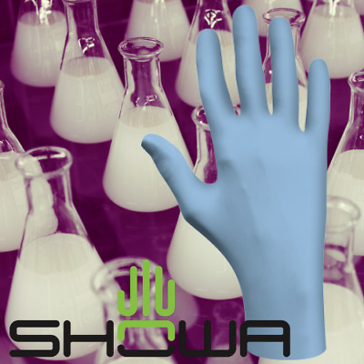 NEW! 6005 Showa Best N-DEX Disposable Nitrile Gloves ALL SIZES +FREE SHIPPING!!