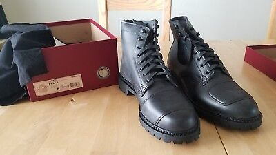 ff09eaaeca1 NEW WOLVERINE 1000 Mile Dylan Moto Boots Black Made in USA 8 D