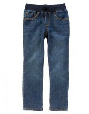 NWT Gymboree Basics Boys Pull-on Jeans Size 4 6 7 8 10 12 14 Ribbed Waist