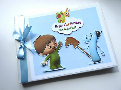 Personalised Baby Tv Boy/girl /first/1St Birthday Guest Book - Any Design