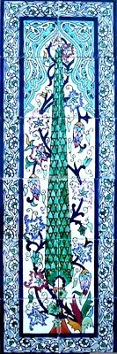 "DECORATIVE CERAMIC TILES: MOSAIC WALL MURAL HAND PAINTED KITCHEN BATH 36"" x 12"""