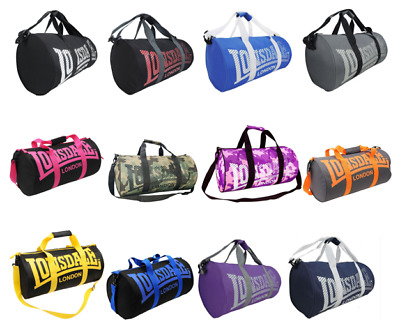 NEW Lonsdale Barrel Gym Sports Bag Duffle Mens Womens Boys Girls - OZ STOCK