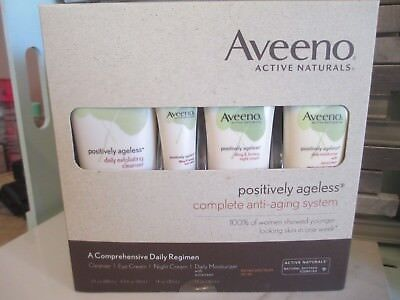 Aveeno Active Naturals Positively Ageless Complete Anti-Aging System Boxed