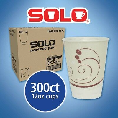 Solo Hot Cold Cups 12 oz 300 Count Drinking Birthday Party Paper Disposable New