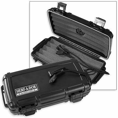 Herf A Dor X5 5 Five Cigar Caddy Travel Case Humidor Crushproof! Save 41%!