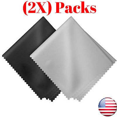 (2-PACK) 7.9X7.9 inch Premium Microfiber Cleaning Cloths for Lens Glasses Screen