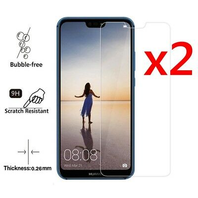 2Pcs 9H Tempered Glass Screen Protector Protective Film For Huawei P20 Lite Pro