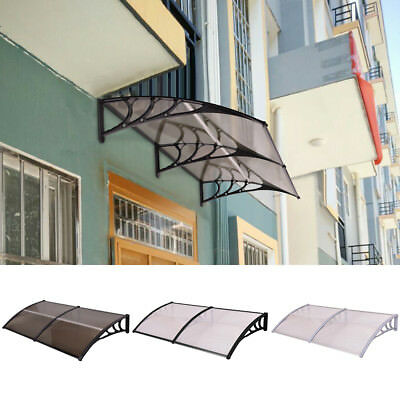 200 x 100CM Door Canopy Awning Roof Shelter Front Back Porch Outdoor Shade UK
