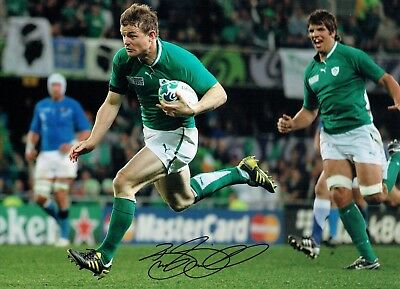 Brian O'DRISCOLL Signed Autograph 16x12 Photo 3 AFTAL COA Irish Rugby Legend