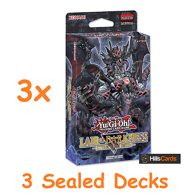 3 x YuGiOh TCG Structure Decks Lair of Darkness - Trading Card Game Shadow Lords