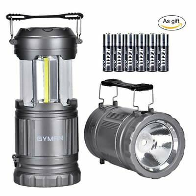 2 Pack Ultra Bright Portable LED Collapsible Camping Lantern Light Tent Lamp