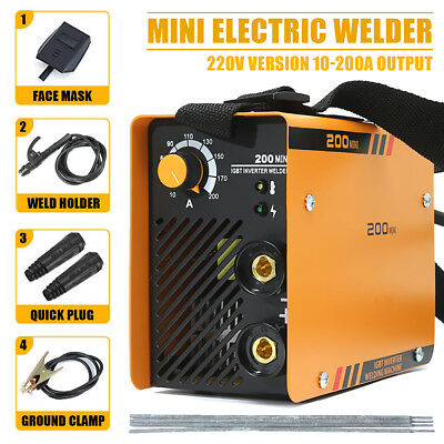 220V 200A ZX7-200 Torch Welding Inverter Machine MMA/ARC Portable Welder IGBT