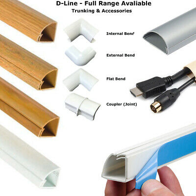 D-Line Self Adhesive Trunking Tv Cable Cover Pvc Plastic Dline & Accessories