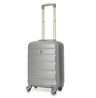 Aerolite Lightweight ABS Hard Shell Travel CarryOn Cabin Hand Luggage 33L Silver