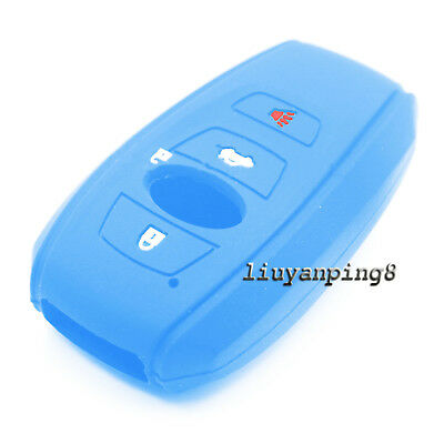 Silicone Skin Cover Remote Key Case Holder Shell For Subaru WRX BRZ Forester