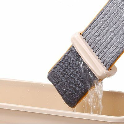 Lazy Hand wash-Free Flat Mop Hands-Free Washable Mop Washing Floor Double-Side*J