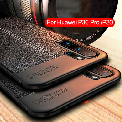 For Huawei P30 Pro P20 Pro Lite 3E Shockproof Rubber TPU Leather Back Case Cover