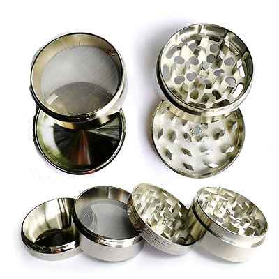 Tobacco Herb 2.5 Inch Spice Grinder 4 Piece Herbal Alloy Smoke Chromium Crusher