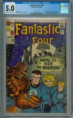 Fantastic Four #45 - CGC Graded 5.0 - 1st Inhumans