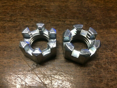 "2 PACK 5/8""-11 UNC Slotted hex nut Castle nut"