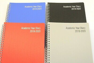 2019-2020 A5 Or A4 Week To View '18 Month' Academic Wiro Diary With Appointments