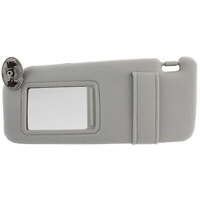 NEW Sun Visor LEFT Driver Side Gray for 2007-2011 Toyota Camry WITHOUT SUNROOF
