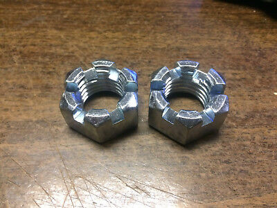 "2 PACK 7/8""-9 UNC Slotted hex nut Castle nut"