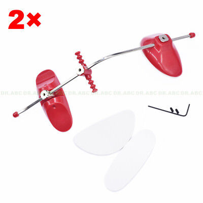 2sets ADJUSTABLE ORTHODONTIC FACE MASK REVERSE PULL HEADGEAR RED/ FACIAL MASCARA