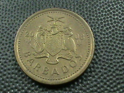 BARBADOS    5  Cents    2008   ,   $ 2.99  maximum  shipping  in  USA