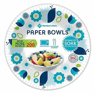 Ultra Paper Bowl 12 ounce 175 ct Heavy Duty Disposable Picnic Bowls