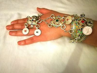 moroccan Hand adorement from Tiznit -  silver jewlery - 95 grams
