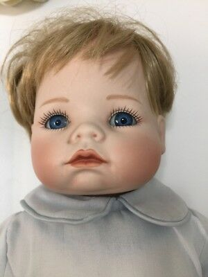 Vintage Rare Porzellanpuppe 40cm. Porcelain Doll With Number 3790A. Ashton 1988.