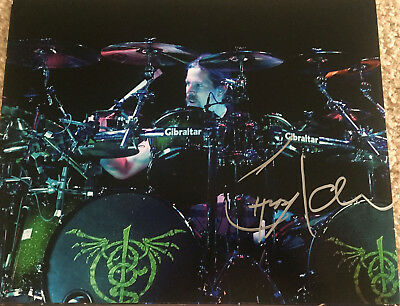 Chris Adler Lamb Of God Megadeth Drummer Drums Signed Autograph 8X10 Photo B