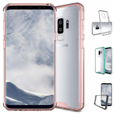 Samsung Galaxy S9 Plus/S9 Hybrid Soft TPU Shockproof Bumper Clear Case Cover S8+