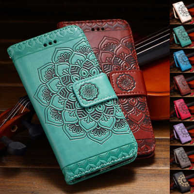 Mandala Magnetic Flip Leather Stand Card Wallet Case For Samsung Galaxy S9 /S9 +
