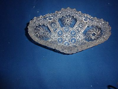 Antique Crystal Cut Glass Small Dish