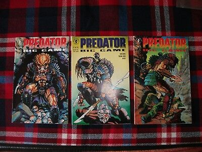 Predator Dark Horse Big Game Comics 1-3