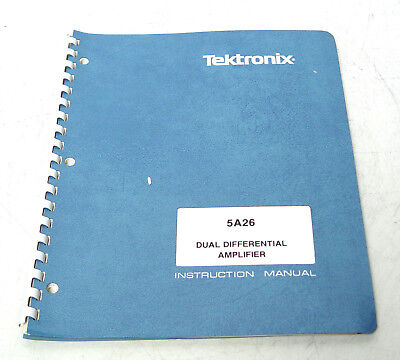 Tektronix 5A26 Instruction Manual f. 5000er Serie Dual Differential Amplifier