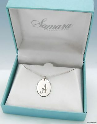 """New Samara 925 STERLING SILVER Oval Sisters Pendant Necklace 18/"""" Chain Box $60"""