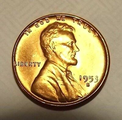 """1951 D Lincoln Wheat 1c~GEM BU//RD/""""s from OBW roll/""""Golden Mint Luster.99 S/&H+CMBN"""