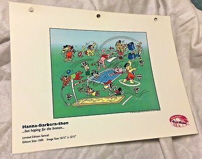 Rare Hanna Barbera Thon But Hoping For The  Bronze Laminated Cel Promo Binder
