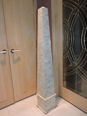 "Huge 60"" Tesselated Stone Obelisk / Monolith Weighs 48 Lbs. Excellent Condition"