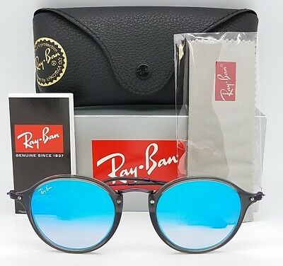 9af9724604fcf7 NEW Rayban sunglasses RB2447N 6255 4O 49 Grey Blue Gradient Round 2447  AUTHENTIC